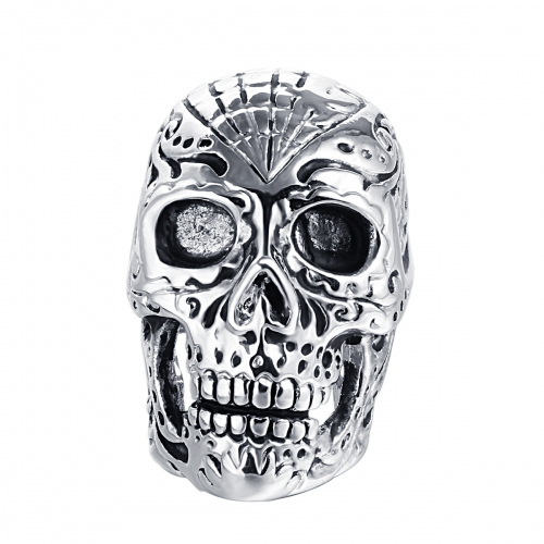 Graduation Kpop Bijoux Male 2016 Brand Silver Biker Skull Rings Punk Jewelry Accessories for Men and Women