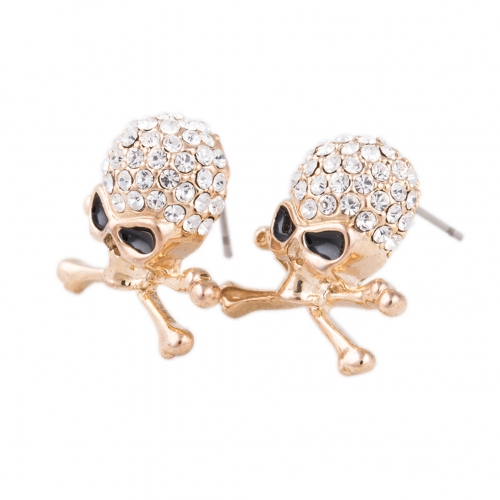 Outstanding Brincos Hip Hop Rock Punk Pierced Silver Plated Skull Earrings Stud Women Fashion Jewelry Accessories