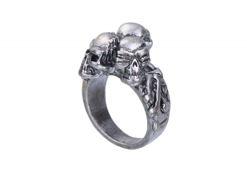 EVBEA Punk Rings Cool Hell Death Skull Ring Man Never Fade Punk Biker Man's High Quality Ring