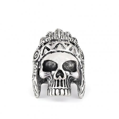 EVBEA Drop Ship Big Punk Biker Skull Ring For Man Stainless Steel Unique Punk Men Cool Jewelry Vintage Jewelry